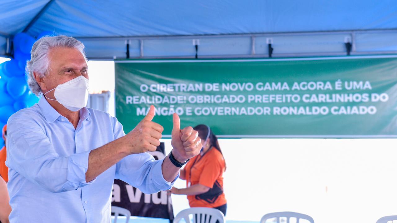 Ronaldo Caiado reforça que qualquer obra em Goiás é concluída dentro do orçamento e do prazo