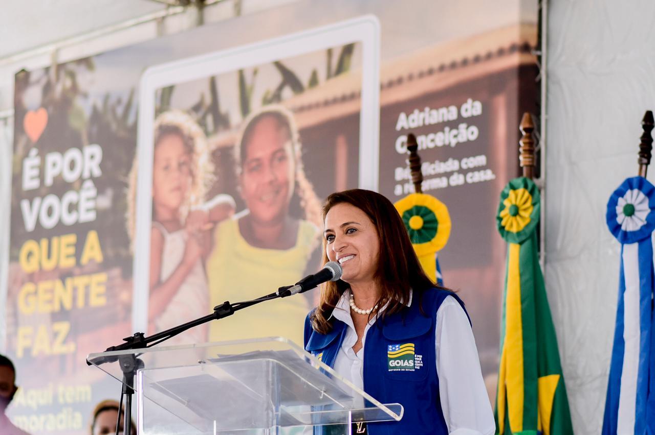 Primeira-Dama Gracinha Caiado no lançamento do Goiás Social