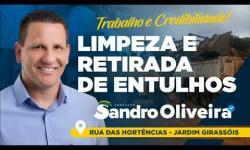 Vereador Sandro Oliveira, solicita limpeza de área para prática esportiva, em Aparecia de Goiânia