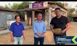 Cleytinho do Flori recebe o deputado delegado Eduardo Prado em Trindade e viabiliza recursos