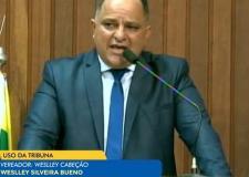 Weslley Cabeção afirma que não está brincando de ser presidente da Câmara Municipal de Trindade