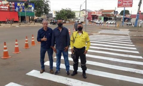 Manin do Esporte agradece ao prefeito Marden Júnior por atender requerimento de revitalização da sinalização na avenida Elizabeth Marques
