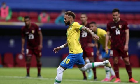 Com gols de Marquinhos, Neymar e Gabigol, Brasil vence a Venezuela na estreia da Copa América
